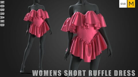 Womens - Short Ruffle Dress