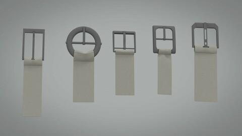 Five buckles 3d model