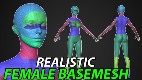 Realistic Female Base Mesh