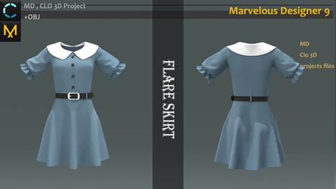 Japanese School Uniform_Marvelous designer School uniform OBJ+FBX