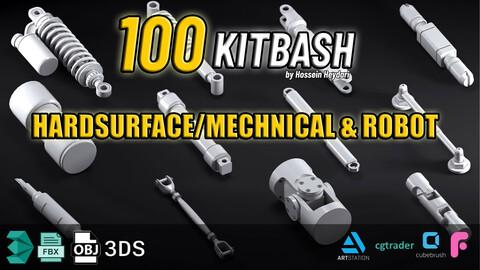 100 kitbash Mechanical + Robot