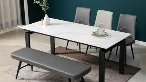 Luce 6 seat 12T ceramic dining table set