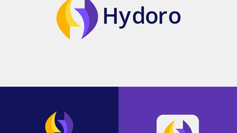 Hydoro-Letter H Abstract Logo
