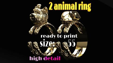 2 animal rings