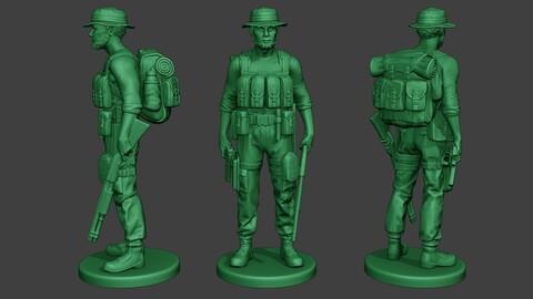 Modern Jungle Soldier Stand4 MJS1