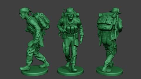 Modern Jungle Soldier Walk4 MJS1