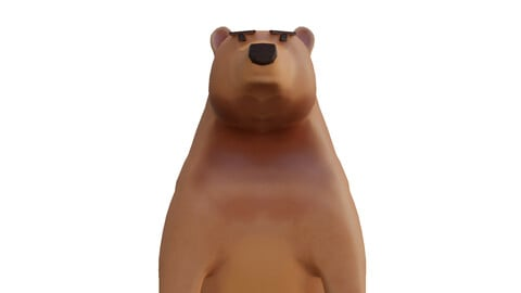 Bear to game low poly PBR textures gameready