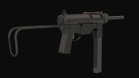 Grease Gun M3A1 Low Poly