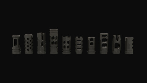 Low Poly Compensator Attachment Pack 1