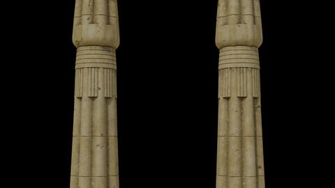 Papyrus Bud Column