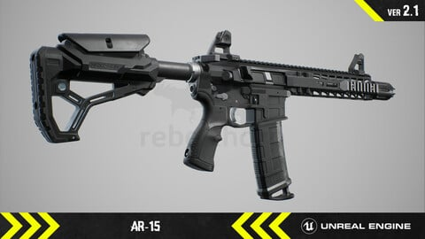 AR15  - Animated FPS Weapon [ Unreal Engine ]
