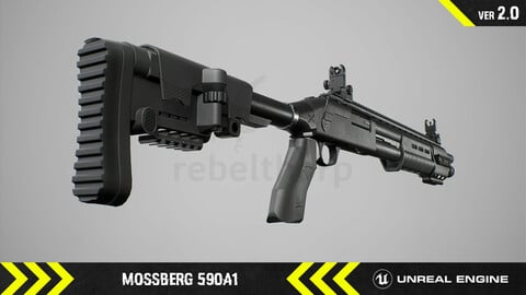 Mossberg 590A1 - Animated FPS Weapon [ Unreal Engine ]