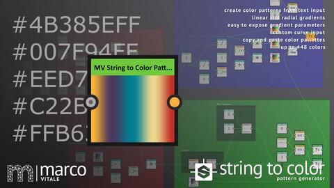 MV String to Color - Pattern Generator (Free)
