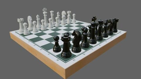 Chess Game Complete - Jogo de Xadrez 3D model