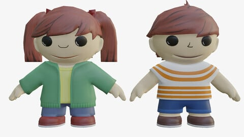boy and girl world and human