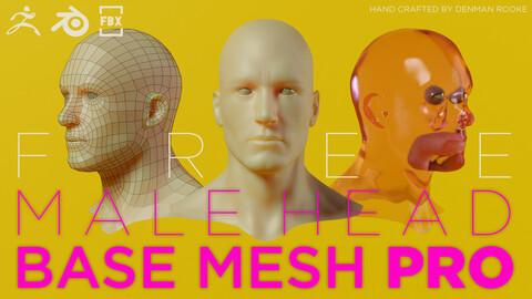 FREE Male Head Base Mesh Pro