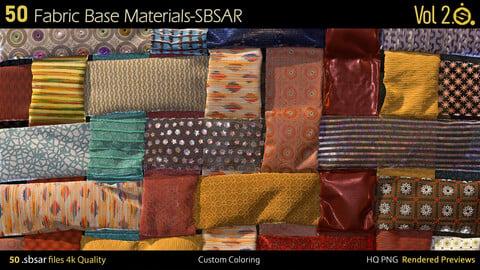 50 Fabric Materials-sbsar-4k-custom colors-Vol2