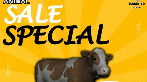 Animal cow 3d