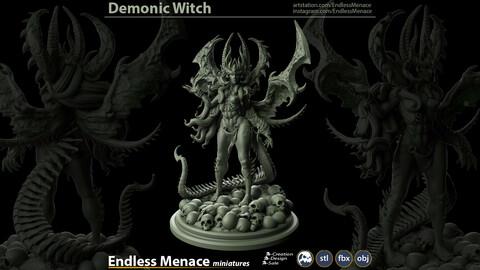 FREE Demonic Witch | 3D print ready