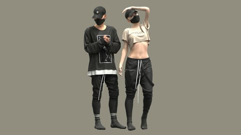 Male and Female Outfits . Clo3D , Marvelous Designer