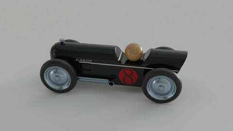 Mini Toy Car Thunder Red by Baghera