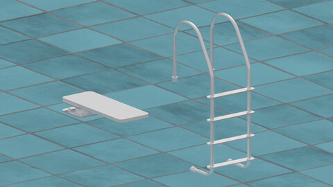 Pool Ladder and Diving Board