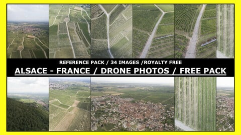 ALSACE - FRANCE / FREE Drone Photo Reference / 34 images