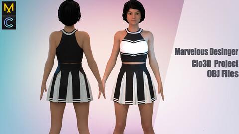 Cheerleader girl / Marvelous Desinger/ Clo3D Project+OBJ file