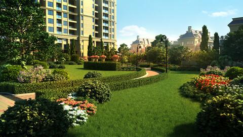High-end residential garden 01