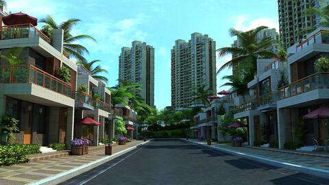 High-end residential community villa