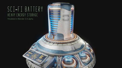 Sci-Fi Heavy Battery - Hipoly 3D Model
