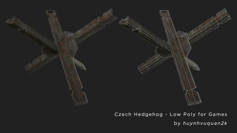 Czech Hedgehog - Non PBR Low Poly for games