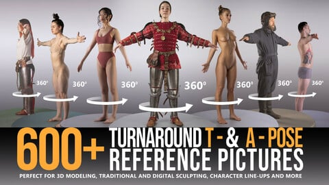 600+ Turnaround T- & A-Pose Reference Pictures