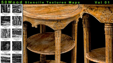 50 Wood  stencil imperfection - VOL 01
