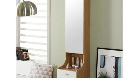 Diva full body mirror storage cabinet dressing table