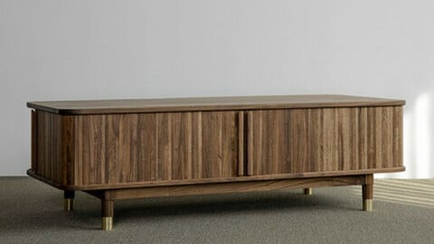 Walnut A type wooden sofa table