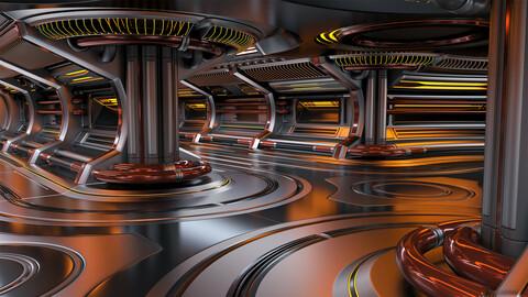 Sci - Fi Modular Corridor 3 - 3D Model