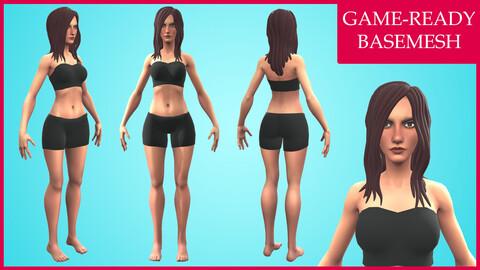 Vero: Cartoon Basemesh Female Character- Rigged
