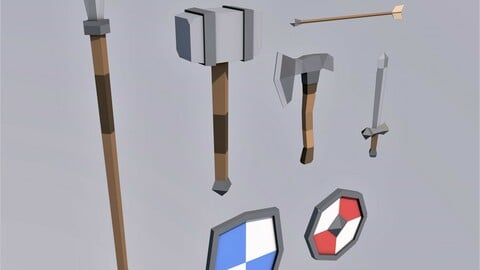 Lowpoly Medieval Weapons Pack