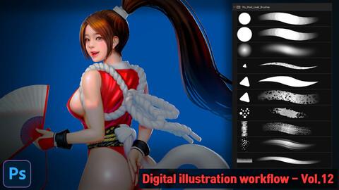 Digital illustration workflow - Vol.12