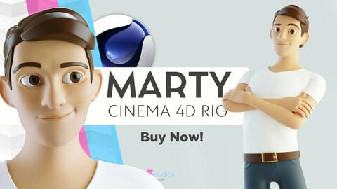 Marty - C4D - Cartoon Guy Rigged