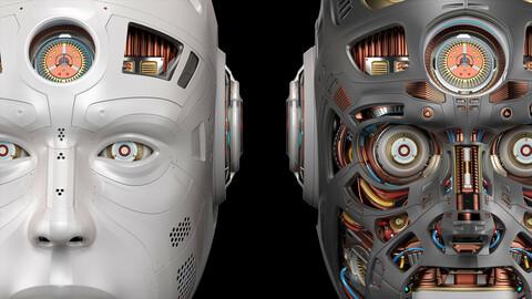 Sci - Fi Robot Head 2 - 3D Model
