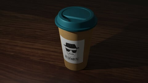 Coffee Cup To Go Heisenberg Low-poly 3D model