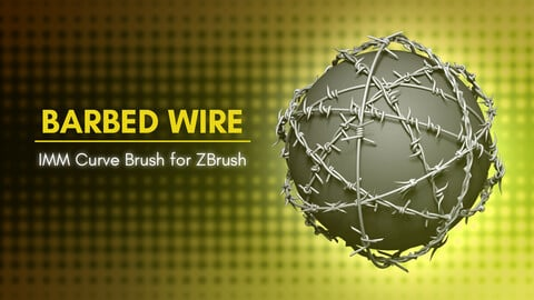 [IMM Brush] Barbed Wire Brush for ZBrush 2021