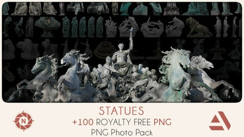 PNG Photo Pack: Statues