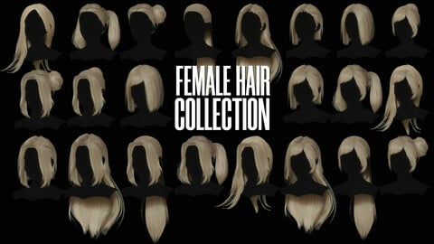 Female Hair Collection - Game Ready