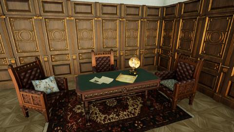 Gothic Living Furniture Set