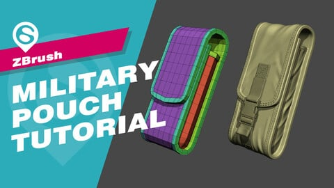 Zbrush Military Pouch Tutorial (Updated Version)