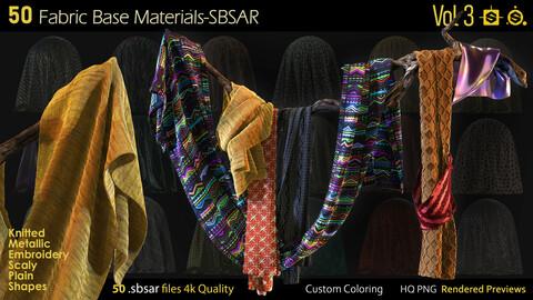 50 Fabric Materials-sbsar-4k-custom colors-Vol3