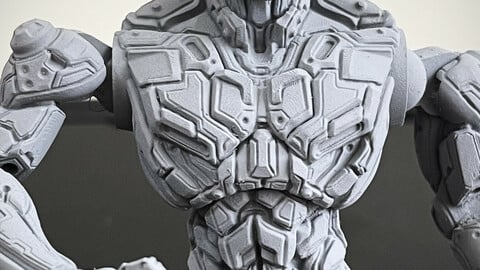 "Wrestler ""El Metal Monteuma Velasquez-Cortez"" 3D Print 187 mm"